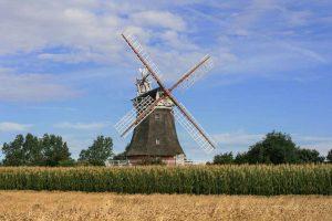 Eine Windmühle auf Föhr.