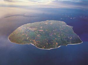Luftbild der Insel Föhr.