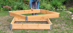Gemüse einfach anbauen - mit praktischen Rahmenbeeten.