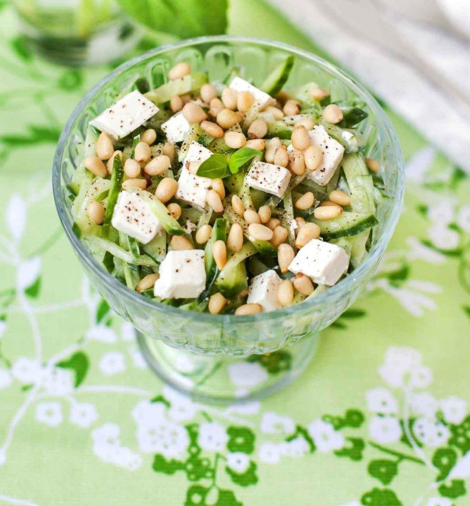 Rezept Sommersalate: Gurken-Feta-Salat