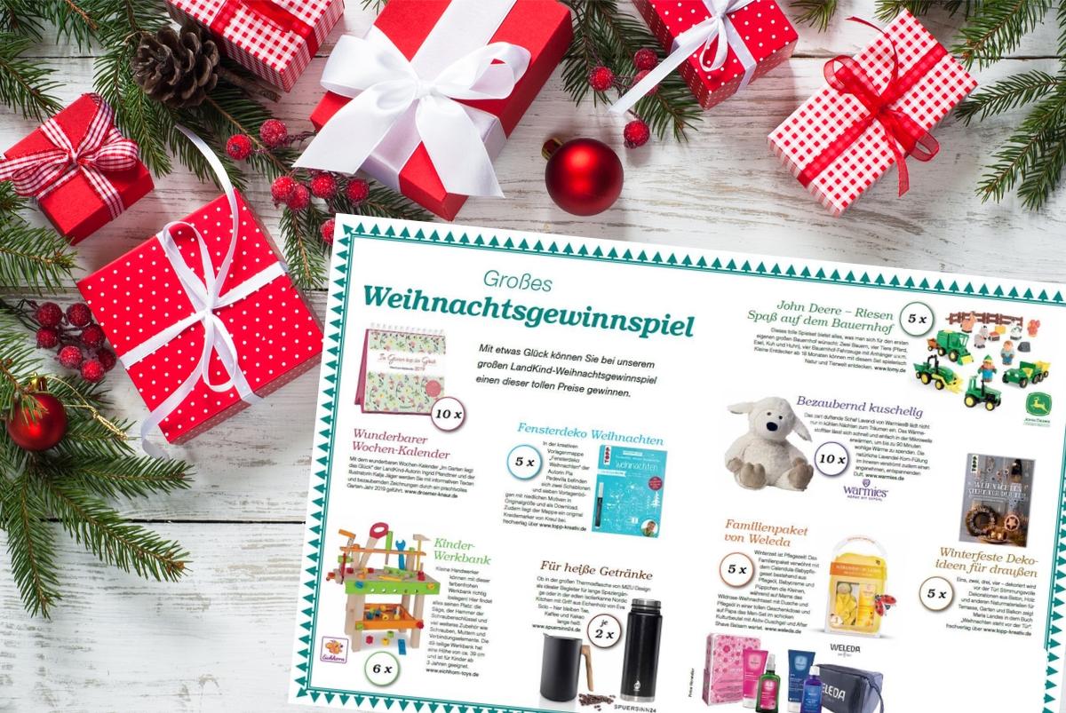 Im Weihnachtsgewinnspiel warten tolle Preise auf Groß und Klein.