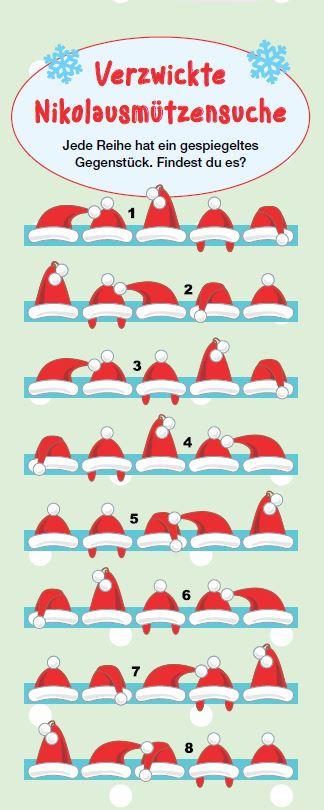 Sooo viele Nikolausmützen - doch welches ist die richtige Reihe?