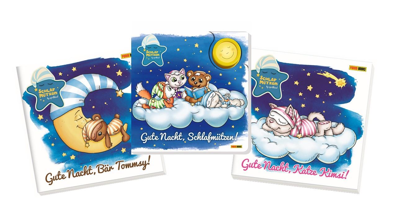Wenn im Schlummerland der Mond aufgeht und am Himmel die Sterne funkeln, wird es für die Schlafmützen zeit, sich ins Bett zu kuscheln. Die drei Bücher stecken voller fantasievoller Geschichten und stimmungsvoller Bilder.
