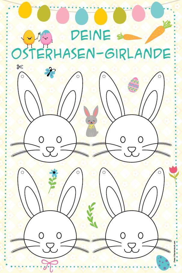 Die tolle Osterhasen-Girlande ist die perfekte Dekoration für euer Osterfest.