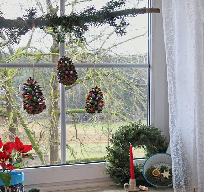 Kinderleichte Weihnachtsdeko Filz Zapfen Landkind